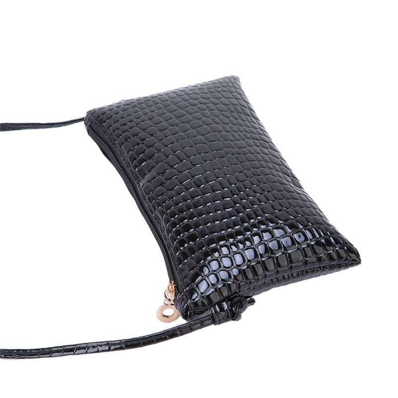 Small Alligator PU Leather Clutch Handbag