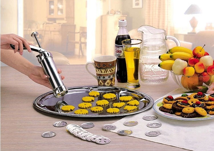 Cookie Press Pump Machine Set