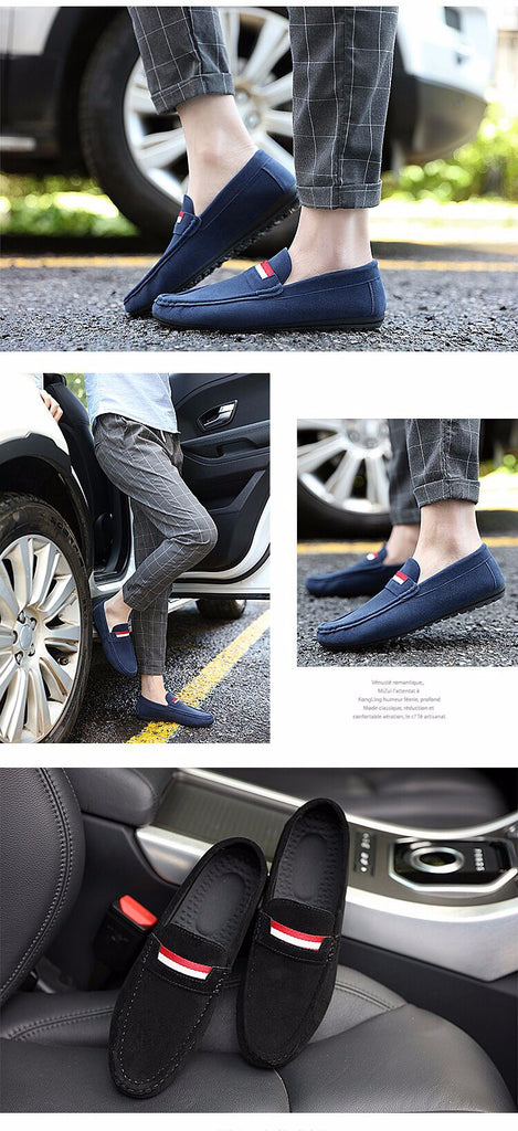 Comfortable Vintage Style Flat Nubuck Soft Leather Loafers Shoes