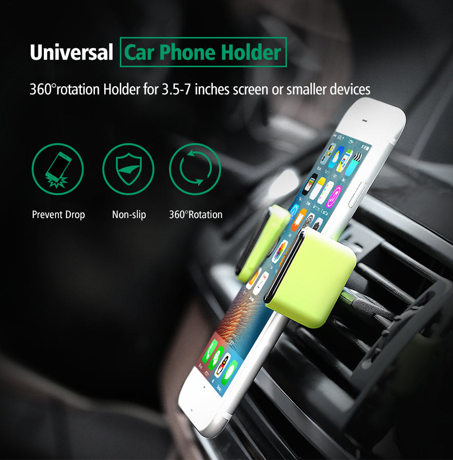 Universal 360 Degree Air Vent Mount Car Phone Holder