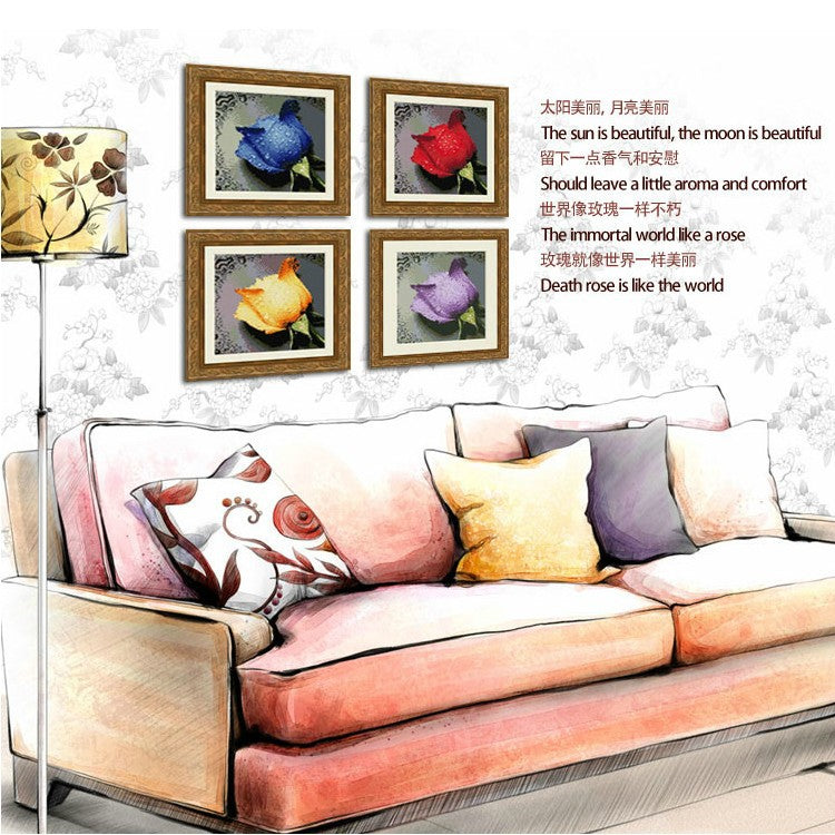 5D Diamond Painting Cross Stitch Kit Living Room Needlework Set Embroidery With Diamond