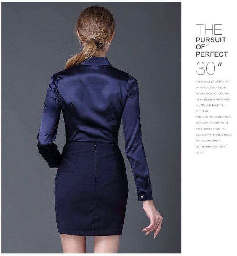 Formal Office Work Ladies Tops High Quality Shirts Clothing