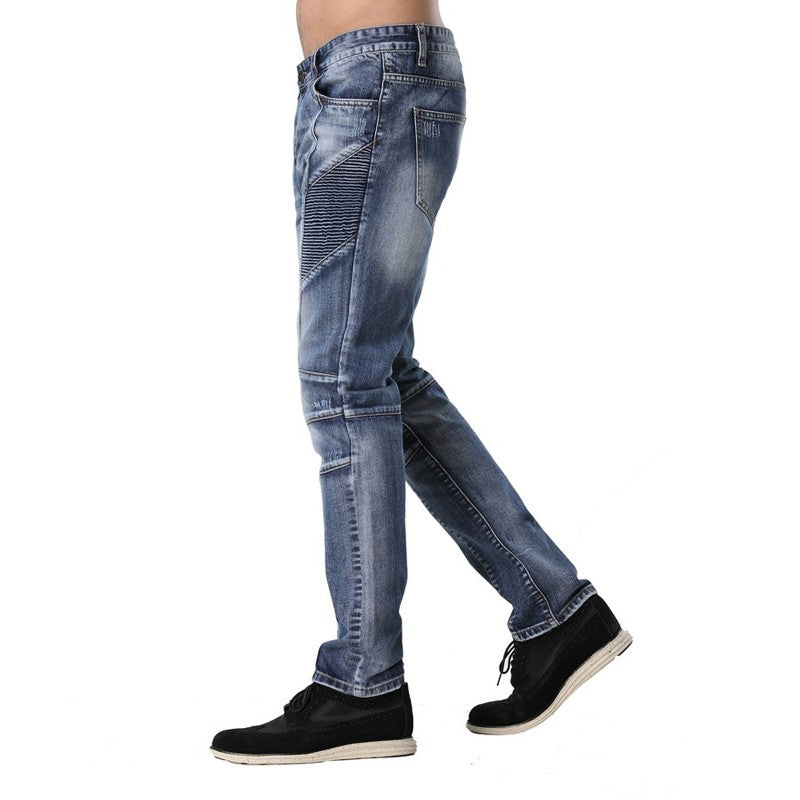 Patchwork Zippers Design Fashion Race Pencil Jeans
