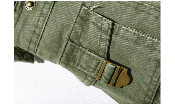 Military Cotton Cargo Multi-Pocket Plus Size Pants