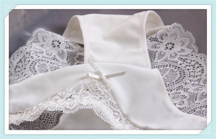 3pcs/Lot Arc Bow Lace Low Waist Seamless Women Panties