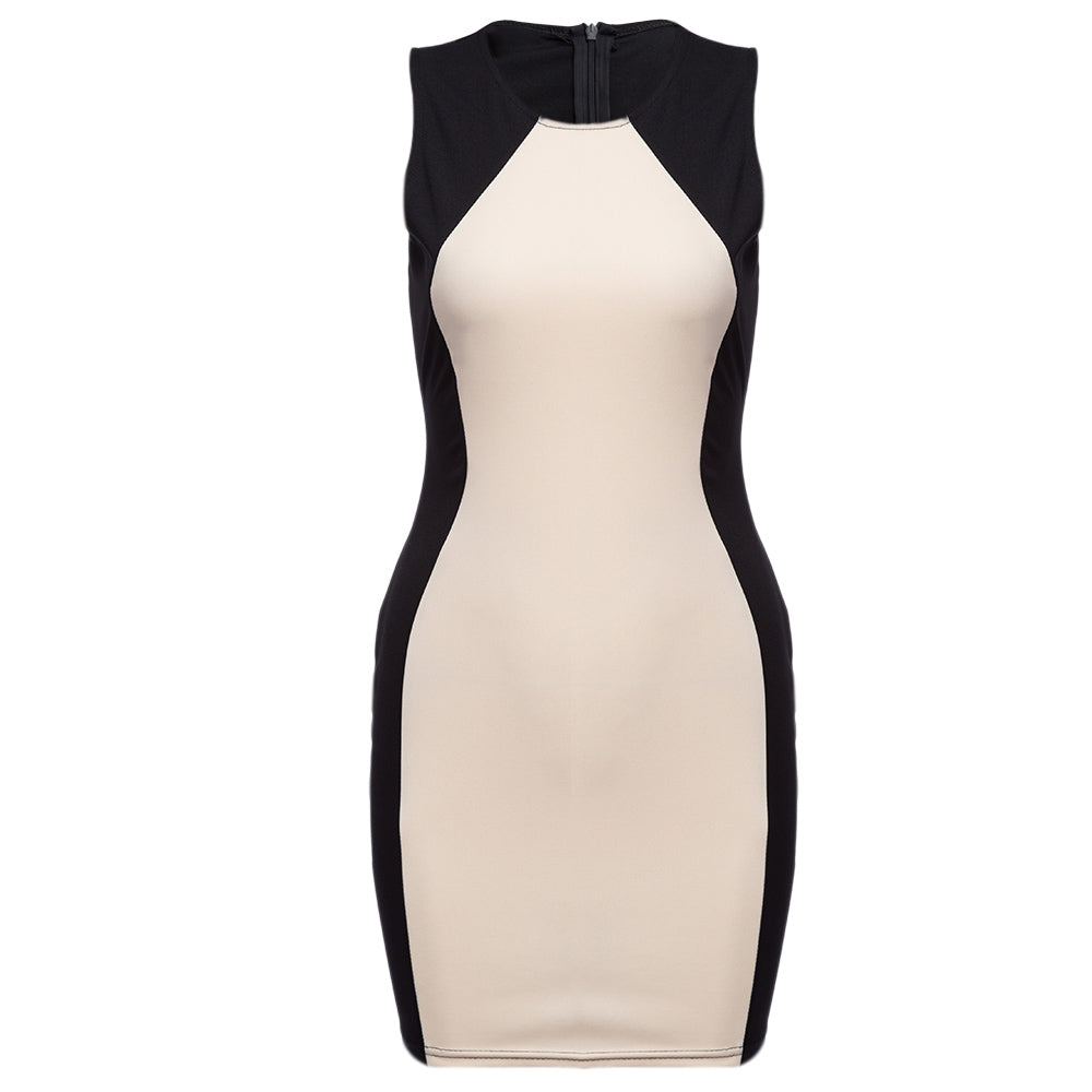 OL Style Bodycon Sleeveless Pencil Dress