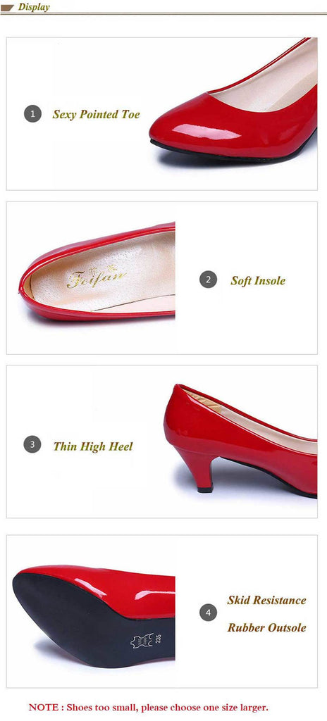Elegant Low Heel Shallow Mouth OL Wedding Classic Pumps