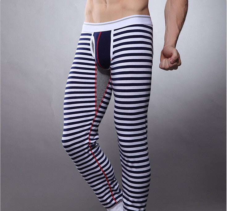 Casual Thermal Striped Long Johns Underwear