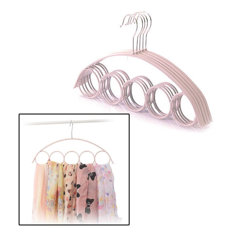 5 Hole Ring Rope Slots Hanger & Organizer For Scarf & Ties