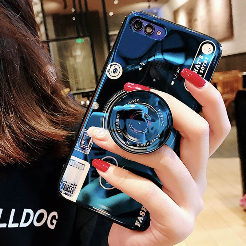 Luxury Blue Ray Camera TPU Silicone Case For Huawei Devices