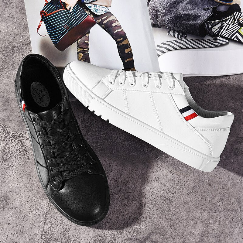 Comfortable Breathable Lightweight Flat Leather Men Shoes