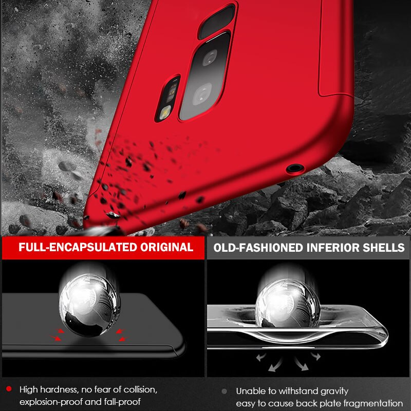Anti-Knock Shockproof 360 Degree Cover Cases For Samsung Galaxy Devices