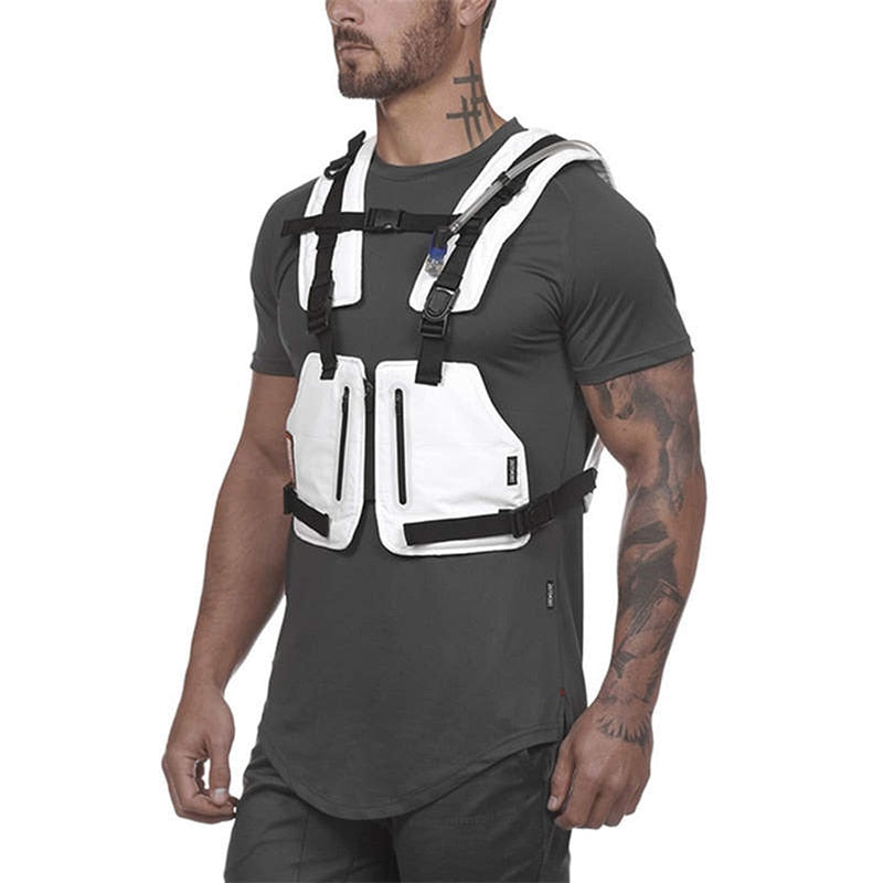 Multi-Function Reflective Tactical Men's Chest Bag