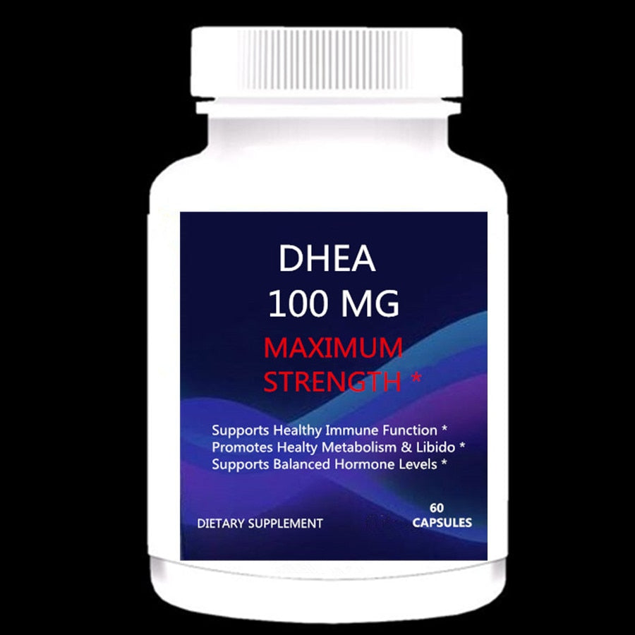 To Promote Balanced Hormone Levels For Women & Men-Healthy Metabolism Pure DHEA Maximum Strength