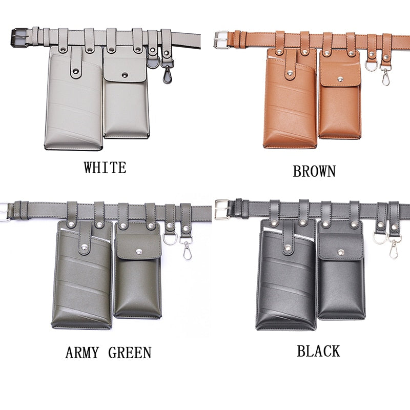 Luxury Leather Women's Waist Fanny Bag