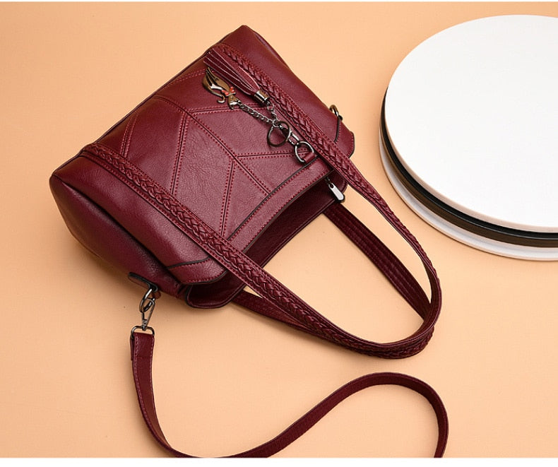 Vintage Genuine Leather Crossbody Women's Bag