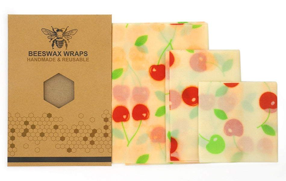 Reusable Beeswax Cloth Wrap Food Fresh Bag