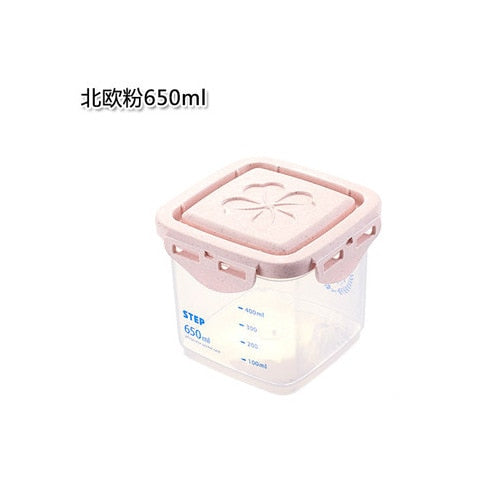 Plastic Sealed Food & Noodle Storage Box With Scale