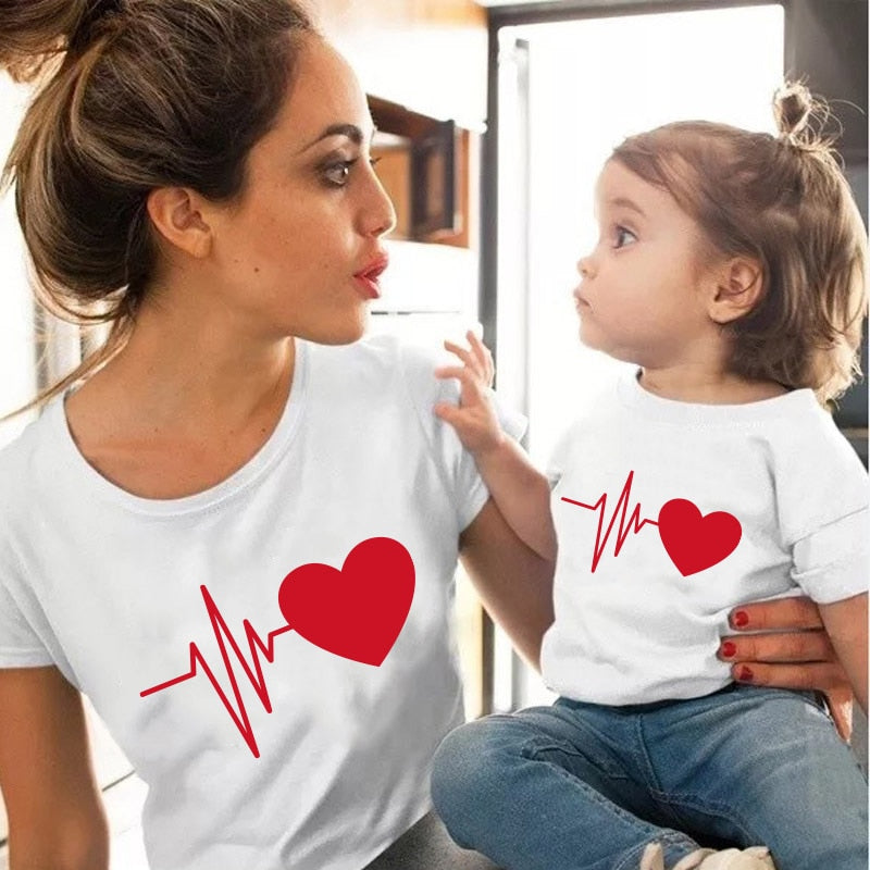 Cute Cotton Mommy & Me Matching T-shirt
