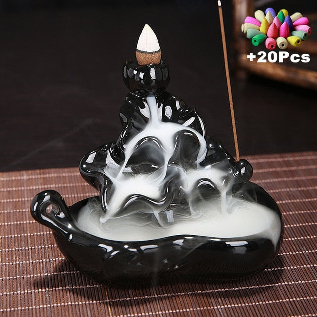 Creative Backflow Ceramic Incense Burner