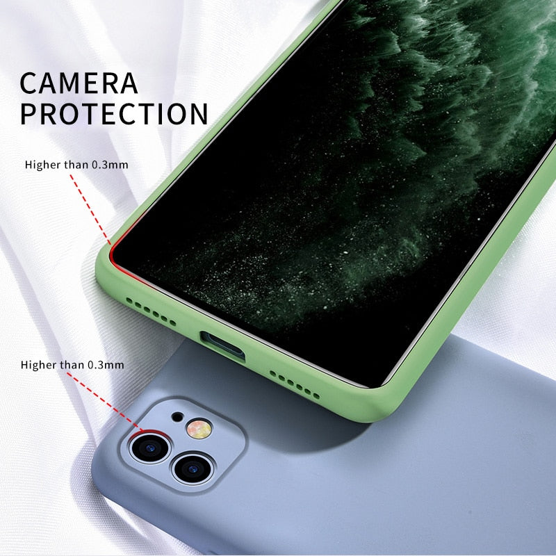 Soft Silicone Full Protection Case For iPhone Devices