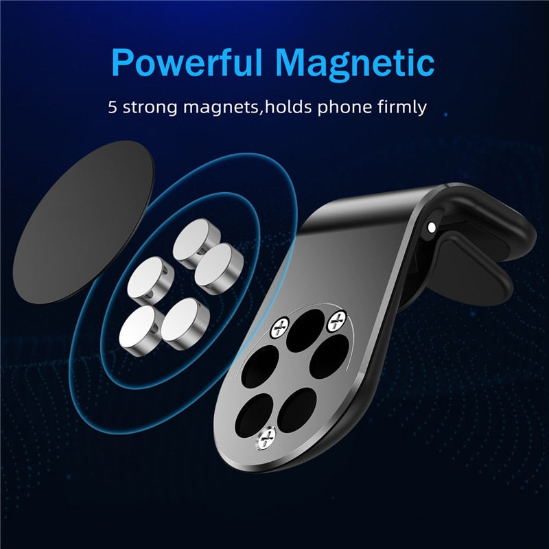 Universal Magnetic Air Vent Car Phone & GPS Holder