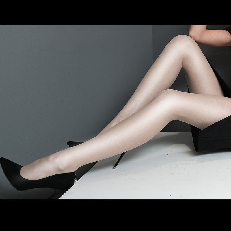 High Elastic Shiny Sheer Thick Women's Tight