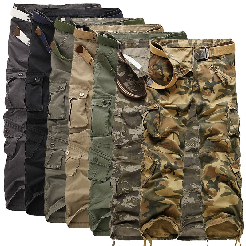 Multi Pocket Camouflage Men's Cargo Pants