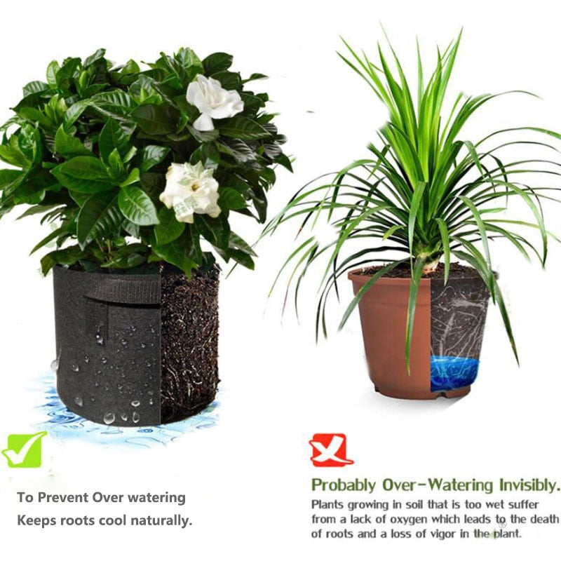 Thicken Non-Woven Plant Grow Gallon