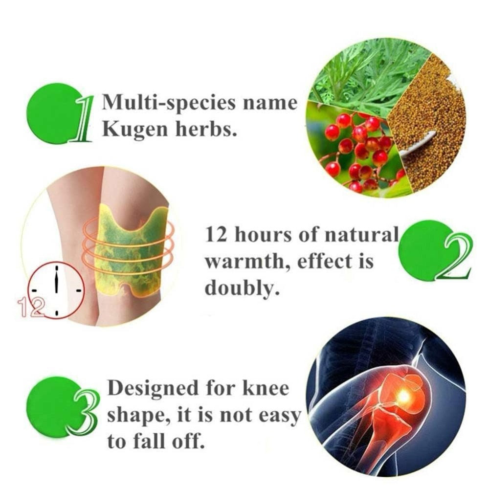 12Pcs/Bag Wormwood Extract Knee Pain Relieving Patch