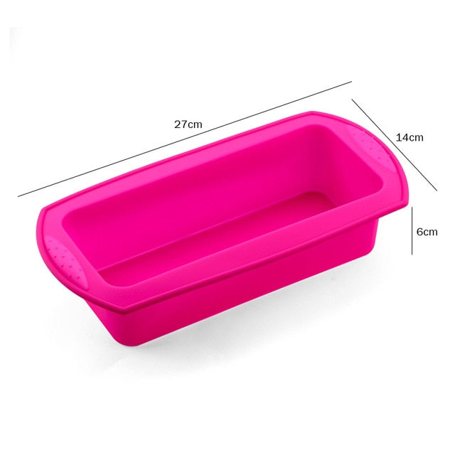 Round & Rectangular Shape Layered Silicone Cake Mold