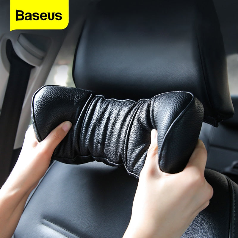 Adjustable 3D Memory Foam Baseus Car Neck Pillow & Headrest