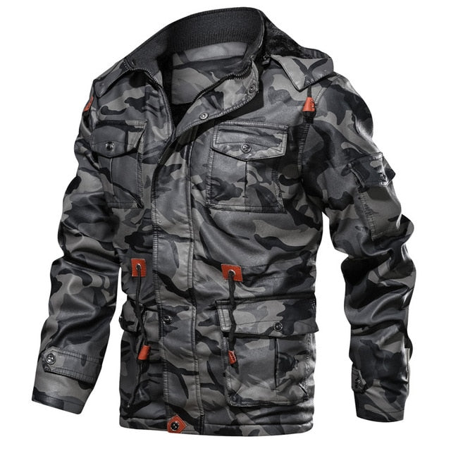 Fleece Thick Hooded Men's Motorcycle Leather Jacket