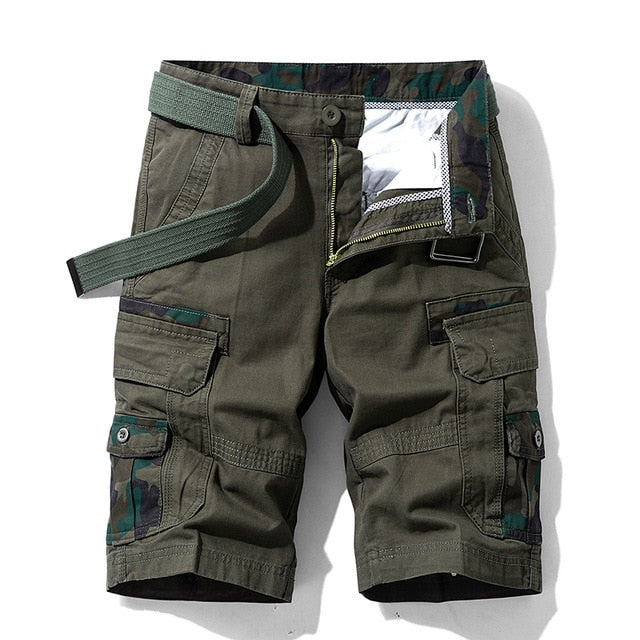 Vintage Cotton Breathable Pockets Cargo Shorts For Men