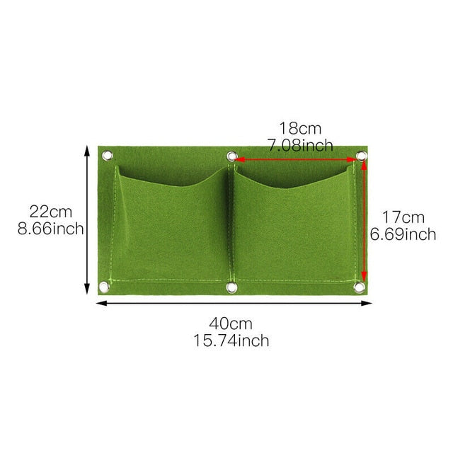 Multi Pockets Vertical Garden Wall Hanging