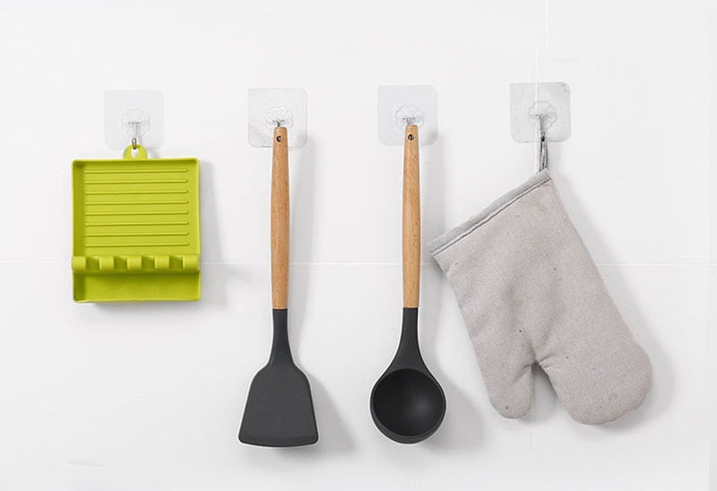 Non-Slip Plastic Kitchen Spoon Holders