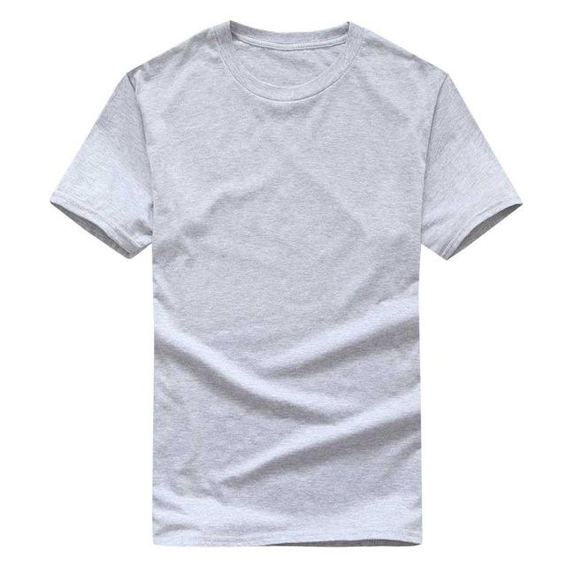 100% Cotton Solid Color Men's T-Shirt