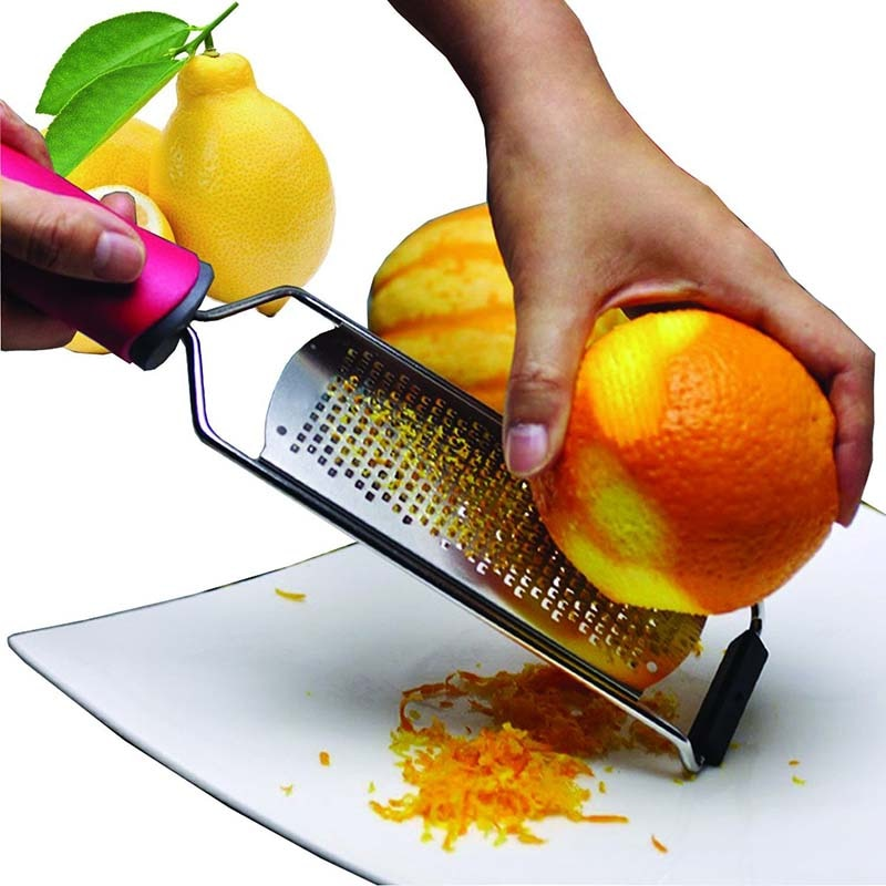 Stainless Steel Lemon & Cheese Grater With Protective Cover