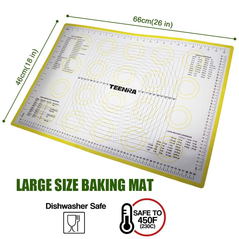 Non-Stick Silicone Rolling Dough & Baking Mat