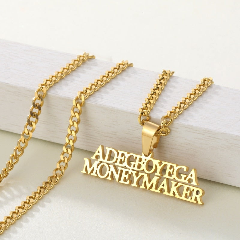 Unisex Personalized Customed Name Cuban Chain Necklaces
