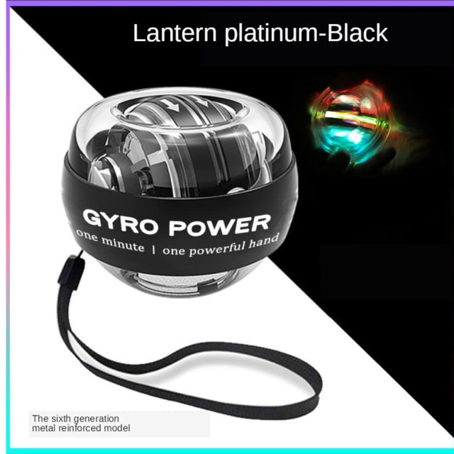Self-Starting LED Light Power Hand Wrist Ball Muscle Trainer