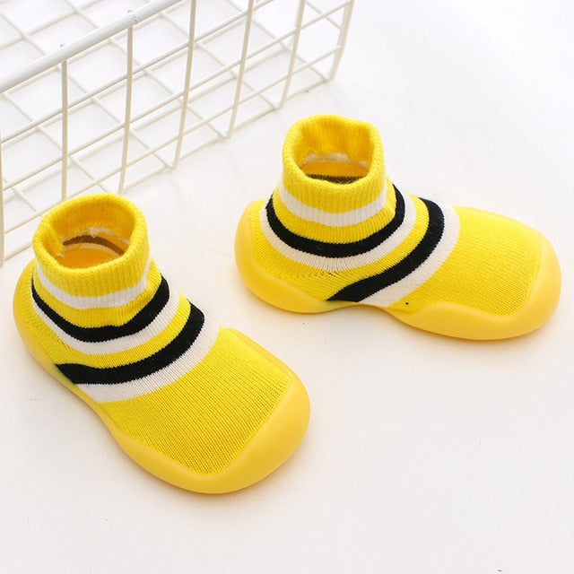 Anti-slip Animals Knitted Baby Socks Shoes With Rubber Soles