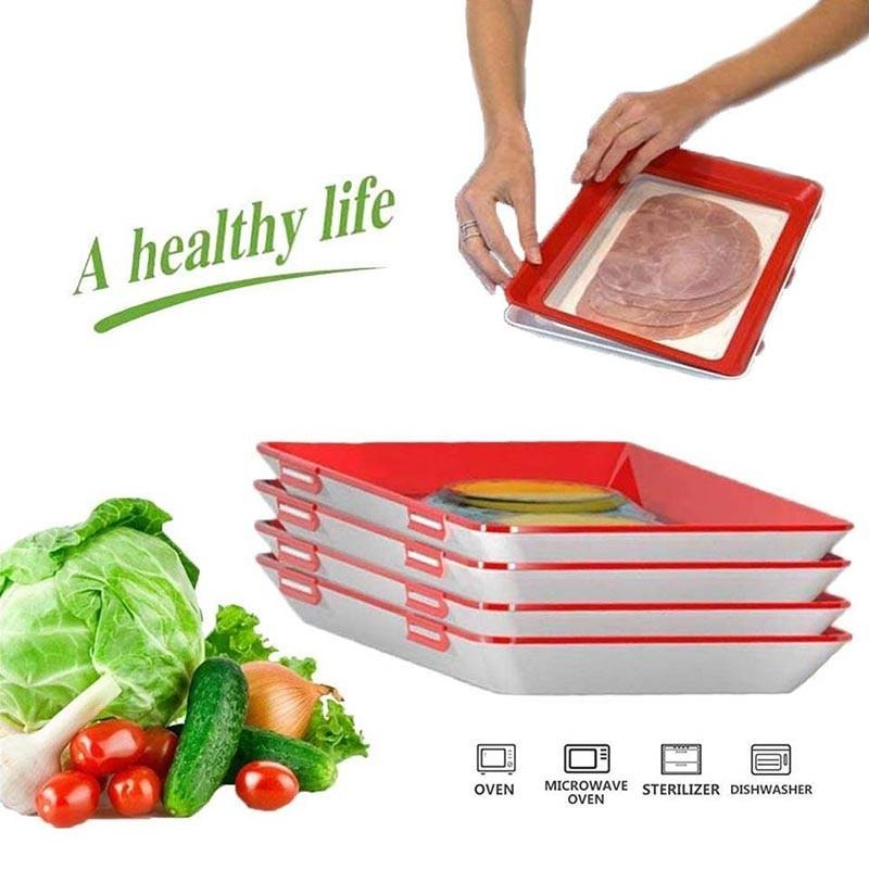 Reusable Stackable Fresh Food Preservation Tray
