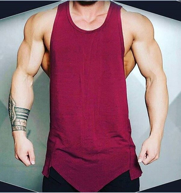 Classic Basic Sleeveless Solid Men's Athletic Tank Top
