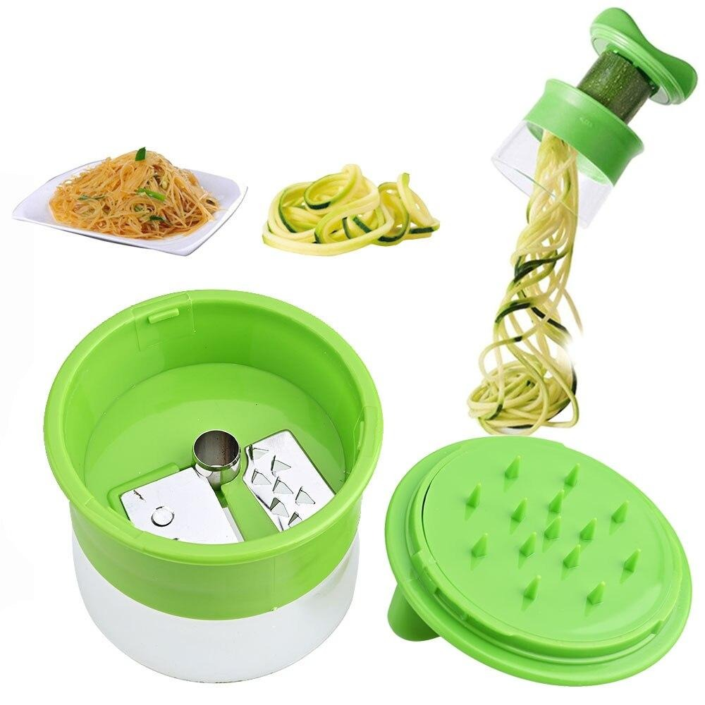 Super Handheld Vegetable & Fruit Spiral Grater Cutter