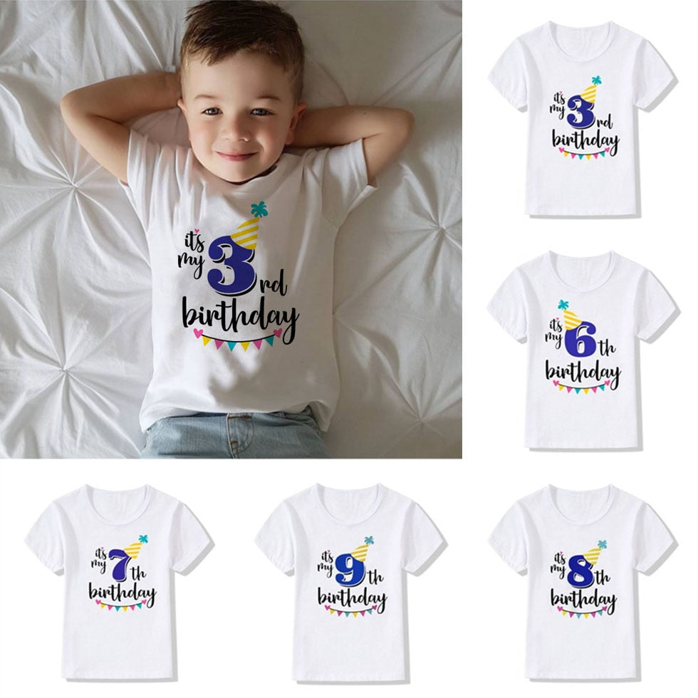 "Unisex Short Sleeved ""It's My Birthday"" Printed T-Shirt"