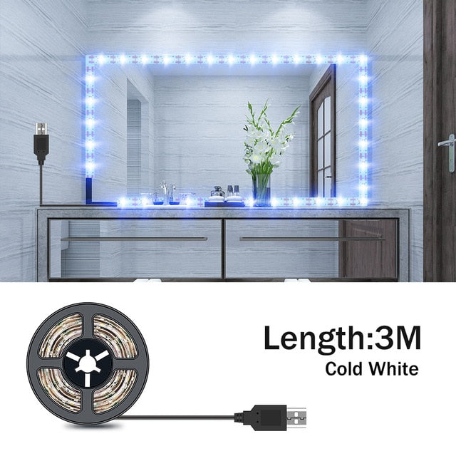USB Makeup Mirror & Vanity LEDs Light String