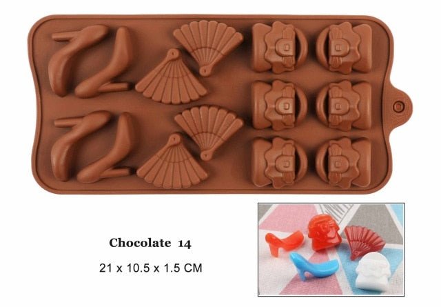 Non-Stick 3D Silicone Jelly, Candy & Chocolate Mold