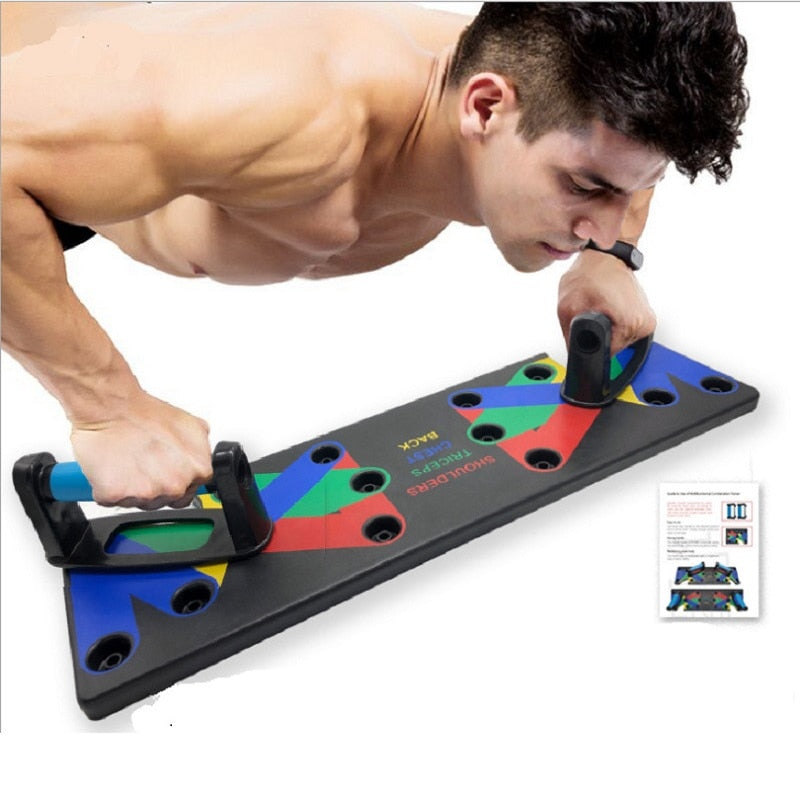 Unisex 9 In 1 Push Up Rack Board Comprehensive Exercise At Home