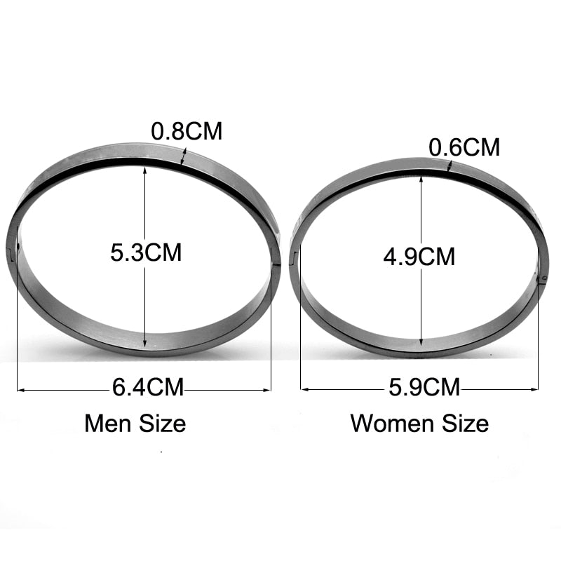 Matching Couple Love Crystal Stainless Steel Bracelets